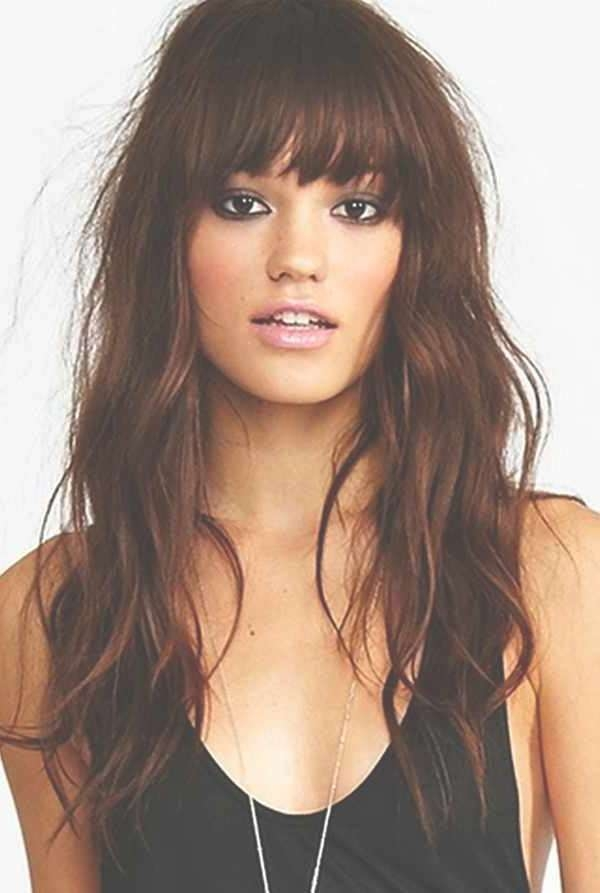 Choosing Bangs Hairstyles Accordance Face Shape Look In Most Popular Medium Hairstyles With Bangs For Oval Faces (View 7 of 25)