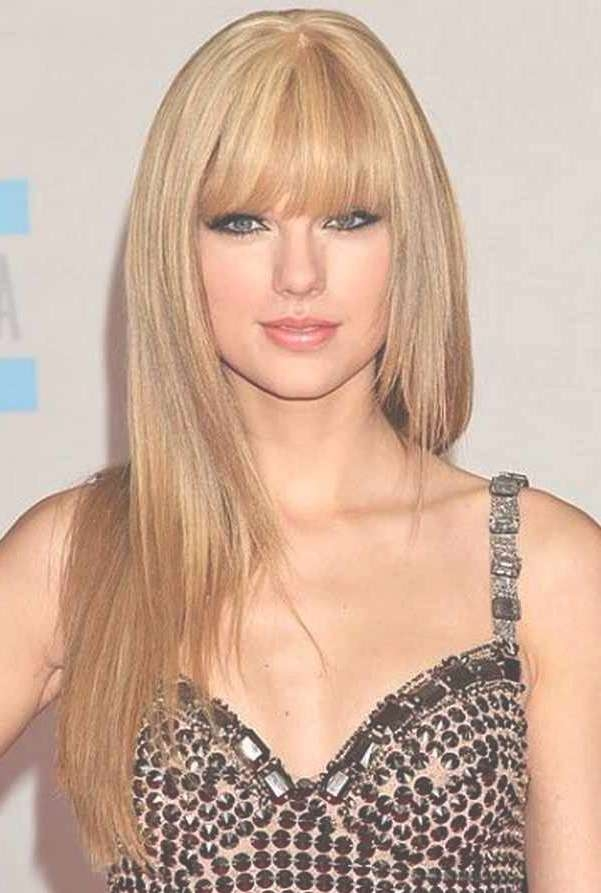 Choosing Bangs Hairstyles Accordance Face Shape Look With Regard To Latest Medium Haircuts With Bangs For Oval Faces (View 14 of 25)