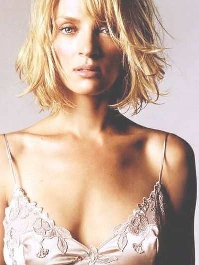 Choppy Bob Haircut – Uma Thurmanrobby Godlike, Via Flick For Uma Thurman Bob Haircuts (View 13 of 25)