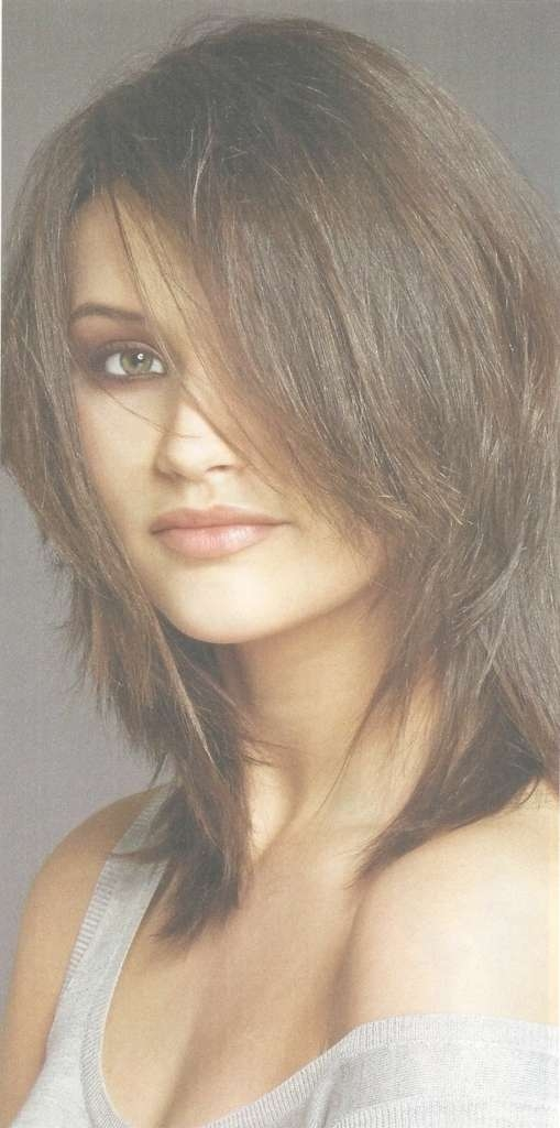 Showing Photos Of Medium Hairstyles With Choppy Layers View 14 Of