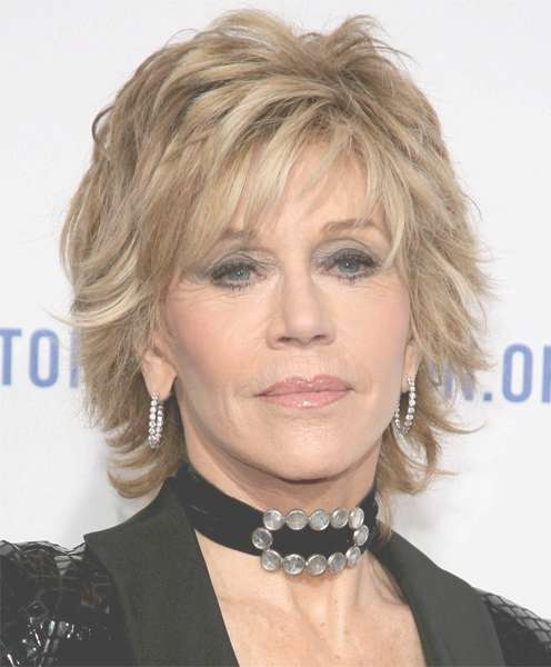 Choppy Look For Mature Fashionistas! Jane Fonda Haircut In Most Recent Medium Haircuts For Seniors (View 15 of 15)
