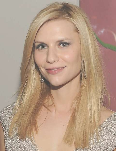 Claire Danes Hairstyles: Medium Straight Haircut For Square Face In Most Popular Medium Haircuts For A Square Face Shape (View 21 of 25)