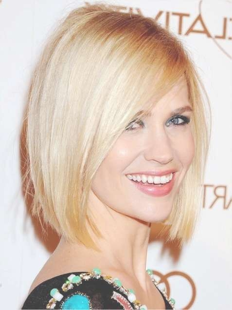 Classic Blunt Bob Hairstyles: Blonde Straight Hair – Popular Haircuts Pertaining To Straight Bob Hairstyles (View 2 of 25)