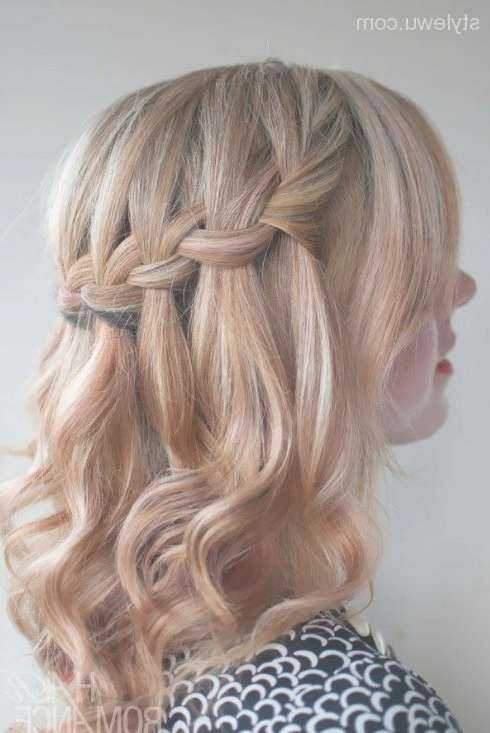 Classic Medium Hairstyles For Prom Half Up Down Inside Most Recently Half Short Half Medium Haircuts (View 7 of 25)