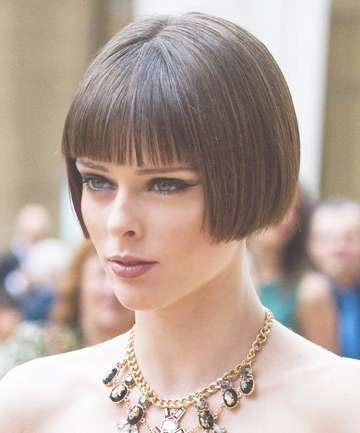 Coco Rocha's Blunt Bob Haircut, 19 Best Bob Haircuts That Look With Blunt Bob Haircuts (View 22 of 25)