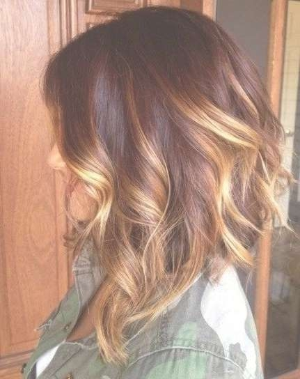 Contrasting Blonde Highlights – Hairstyles Weekly For Most Up To Date Ombre Medium Hairstyles (View 6 of 25)