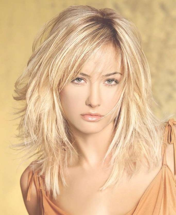 Cool Messy Medium Length Hairstyles For Thin Hair 2017 With Regard To Recent Medium To Medium Haircuts For Thin Hair (View 13 of 25)