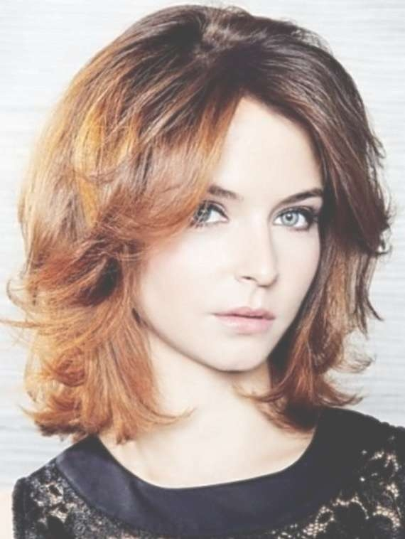 Cool Wavy Medium Hairstyle For Round Face 2017 For Recent Medium To Medium Hairstyles For Round Faces (View 3 of 25)