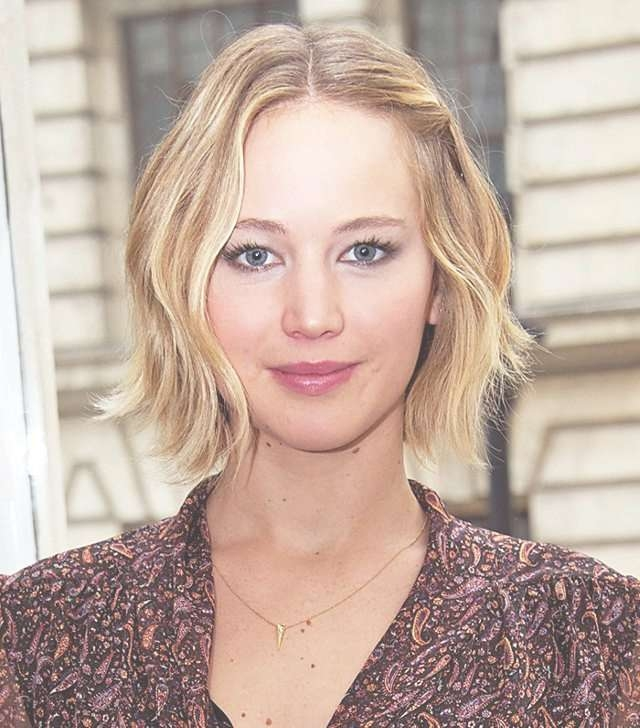 Copy That: A Jennifer Lawrence Hairstyle For Every Day Of The Week For Jennifer Lawrence Bob Haircuts Jennifer Lawrence (View 9 of 25)