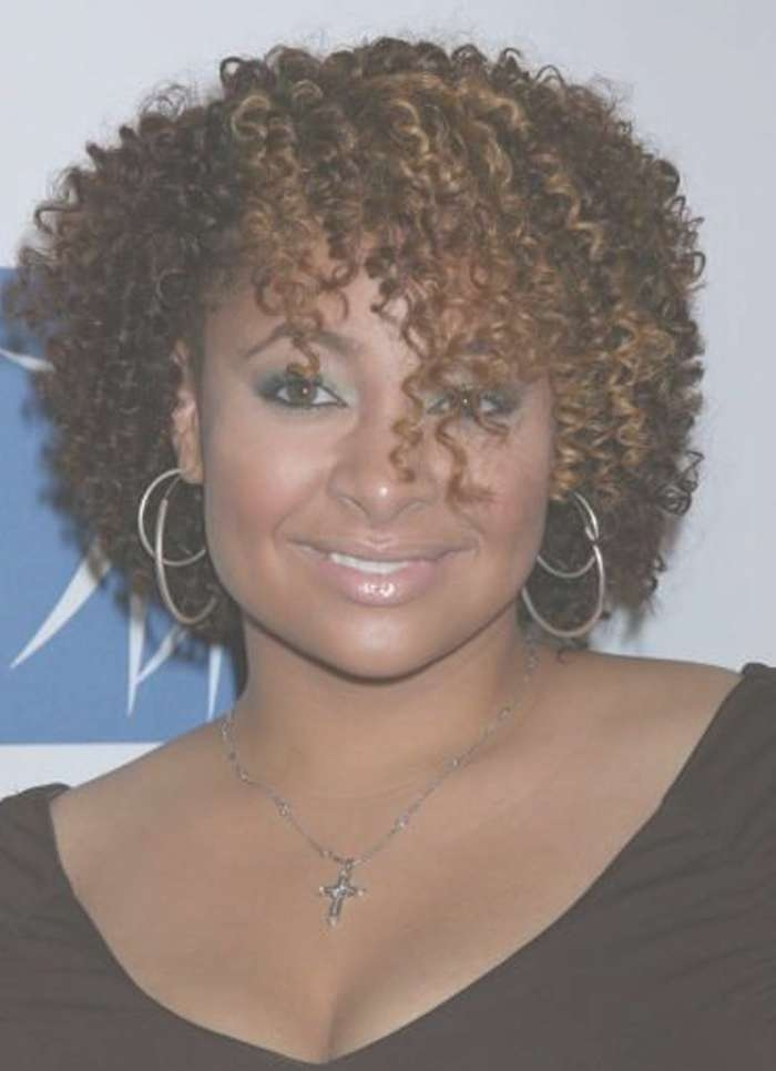 Curly Hairstyles For Medium African American Hair Eccentric Curly Throughout Best And Newest Medium Haircuts For African American Women With Round Faces (View 2 of 25)