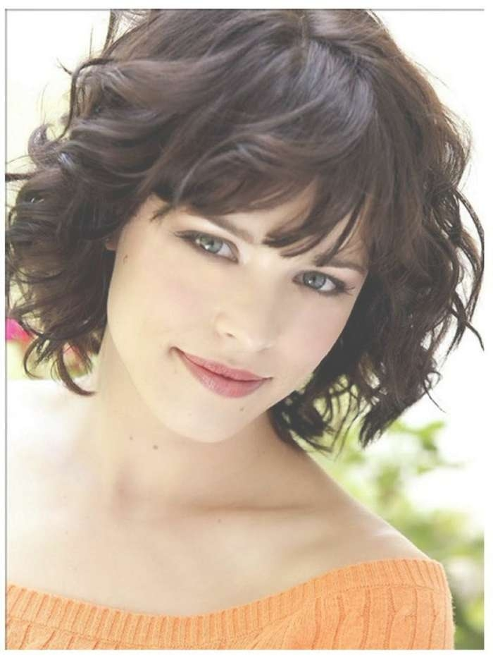 Curly Hairstyles With Bangs For Medium Hair With Regard To Most Recently Curly Medium Hairstyles With Bangs (View 14 of 25)