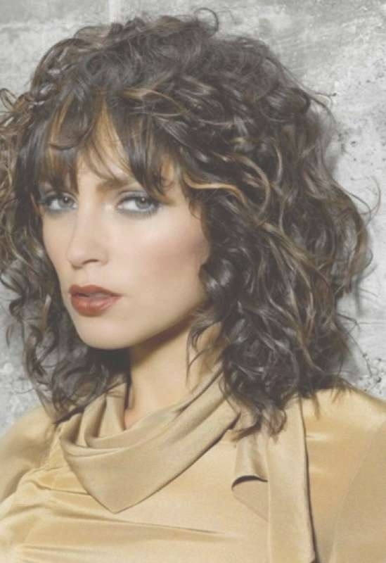 Curly Medium Hairstyles With Bangs Hair Haircuts 2018 With Regard To Most Recent Curly Medium Hairstyles With Bangs (View 3 of 25)