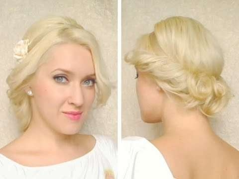 Curly Updo For Medium Long Hair Tutorial With Headband Hairstyle For 2018 Cute Medium Hairstyles With Headbands (View 11 of 15)