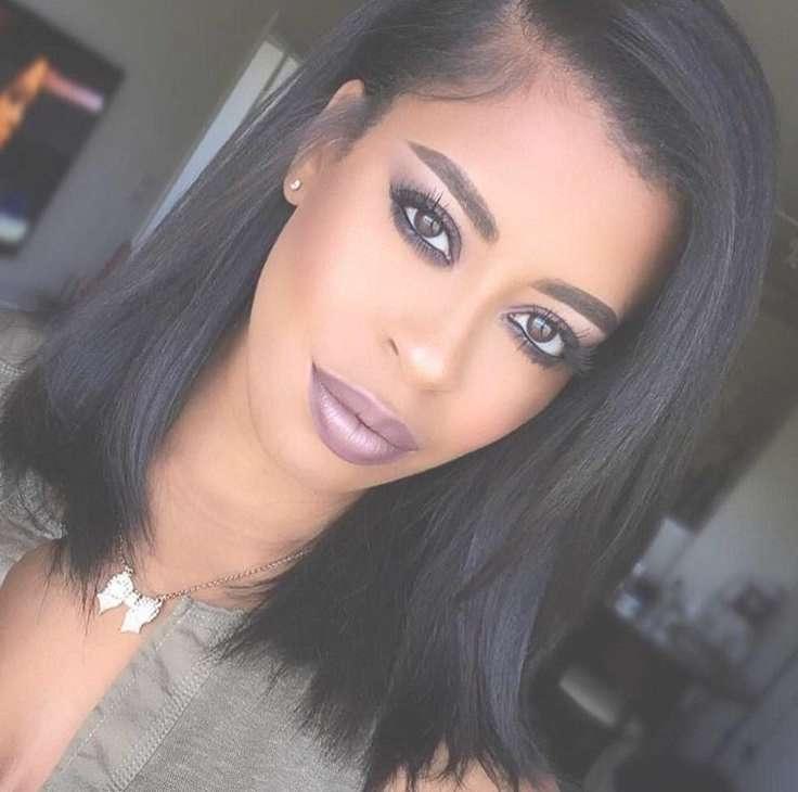 Cute Medium Haircut For Black Hair With Regard To Most Popular Medium Hairstyles For Black Hair (View 19 of 25)