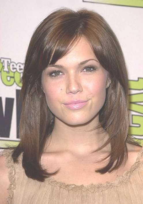 Cute Medium Haircuts For Round Faces, Medium Haircuts For Round Intended For Recent Medium Hairstyles Round Face (View 15 of 25)