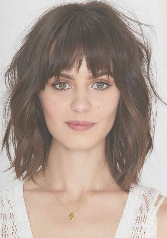 Cute Medium Length Bob Hairstyles With Fringe Intended For Bob Hairstyles With Bangs (View 7 of 25)