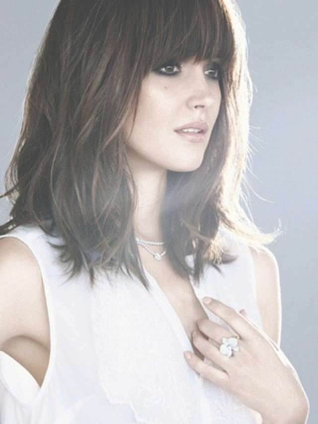 Cute Medium Length Haircuts With Bangs In Most Recent Medium Haircuts With Fringes (View 14 of 25)