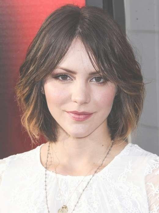 Cute, Medium Short Hairstyles: Katharine Mcphee Hair – Popular With Regard To Current Cute Celebrity Medium Haircuts (View 16 of 25)