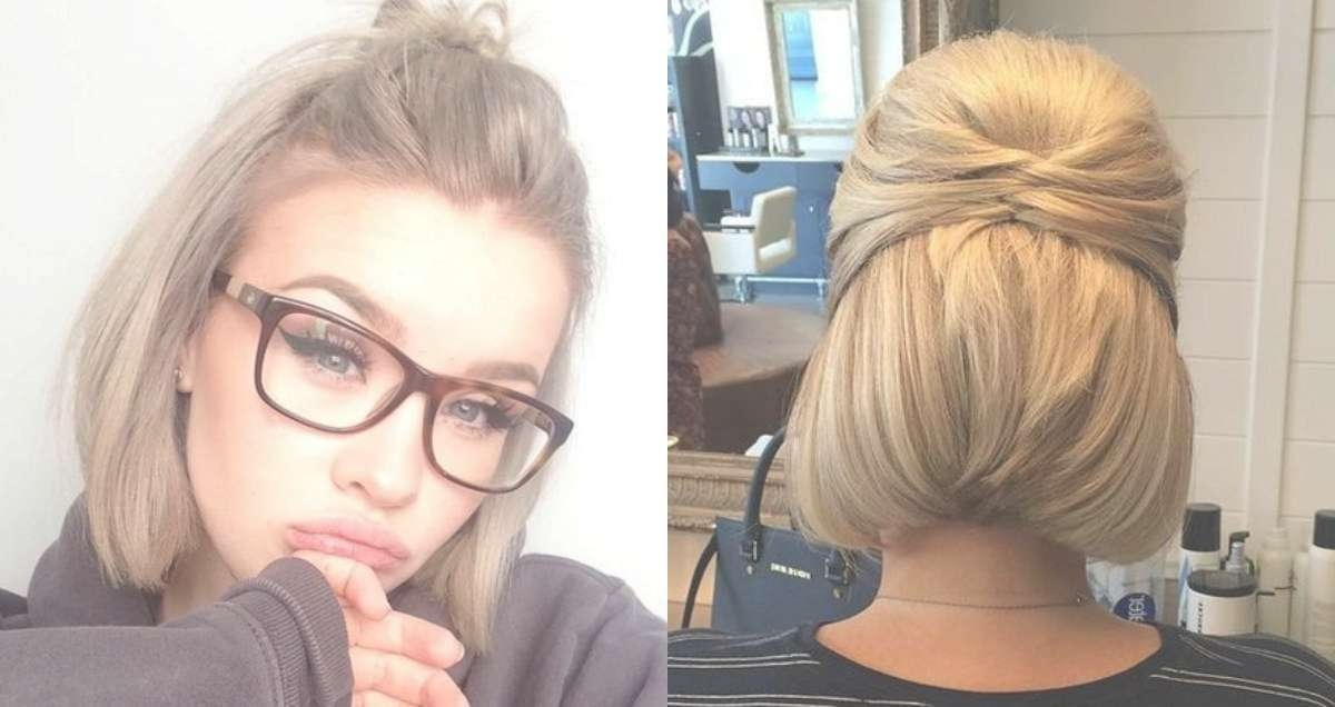 Cute Short Hair Updo Hairstyles You Can Style Today | Hairdrome Inside Half Up Half Down Bob Haircuts (View 5 of 25)