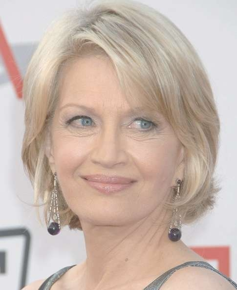 Diane Sawyer Hairstyles: Layered Medium Bob Hairstyle For Older Regarding Current Medium Haircuts For Older Women (View 10 of 25)
