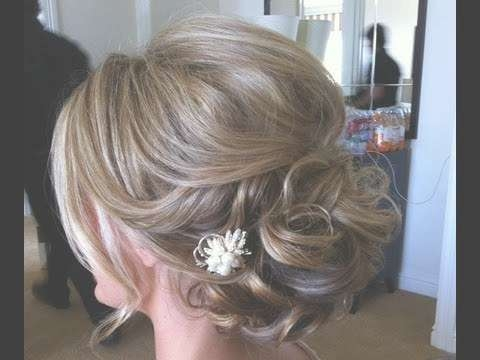 Easy Hairstyle – For Medium Long Hair | Prom & Wedding Hairstyle Intended For Recent Medium Hairstyles For Prom Updos (View 9 of 15)