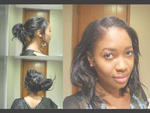Best 15 of relaxed medium hairstyles easy heatless hairstyles relaxed hair short or medium youtube within most recent solutioingenieria Images
