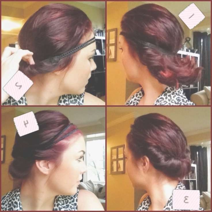 Easy Updos For Short To Medium Hair Regarding Most Popular Medium Haircuts With Headbands (View 18 of 25)