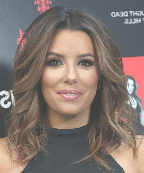 Eva Longoria Medium Wavy Formal Bob Hairstyle – Dark Brunette Within 2018 Brunette Medium Hairstyles (View 8 of 15)
