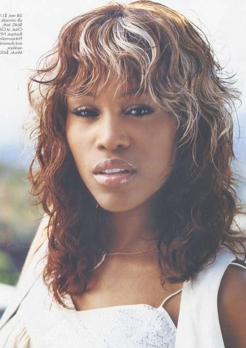 Eve Medium Hairstyle: Curly Bangs – Pretty Designs With Newest Curly Medium Hairstyles With Bangs (View 12 of 25)