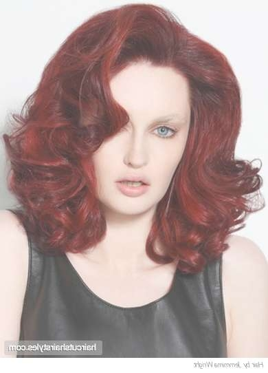 Fiery Red Haircut Inside 2018 Red Medium Hairstyles (View 10 of 25)