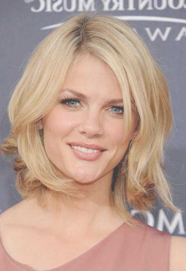 Formal Blonde Medium Length Layered Hairstyles For Most Recently Side Swept Bangs Medium Hairstyles (View 6 of 25)