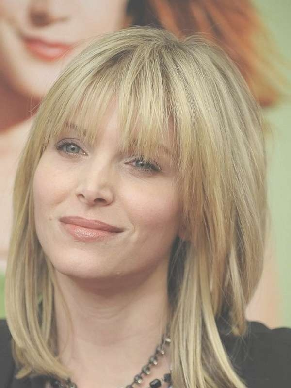 Formal Medium Length Layered Haircuts For Wavy Hair With Bangs Regarding Most Current Cute Medium Haircuts With Bangs And Layers (View 3 of 25)