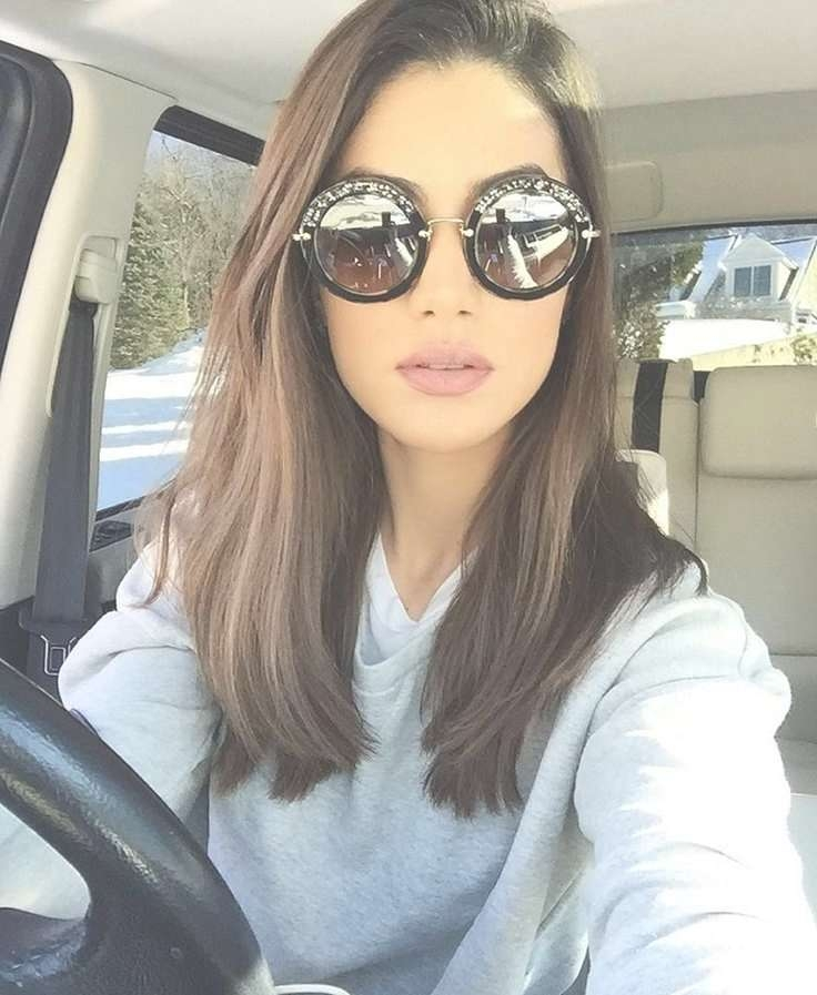 From Long To Medium Haircuts Inside 2018 Medium Hairstyles With Glasses (View 13 of 25)