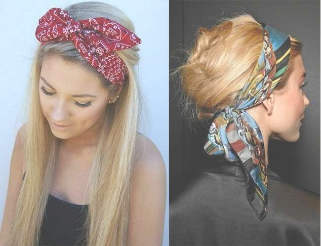 Funtastic Bandana Hairstyles You Must Try At Least Once For Most Recent Medium Hairstyles With Bandanas (View 11 of 15)