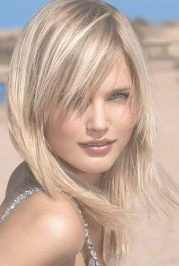 Image Gallery Of Medium Haircuts For Blondes With Thin Hair View 7
