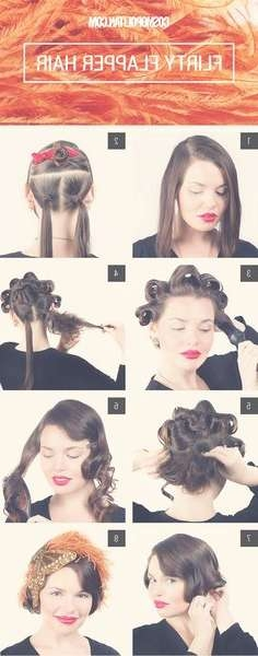 Gatsby Wedding | Beauty | Pinterest | Gatsby Wedding, Gatsby And Intended For 2018 Flapper Girl Medium Hairstyles (View 18 of 25)