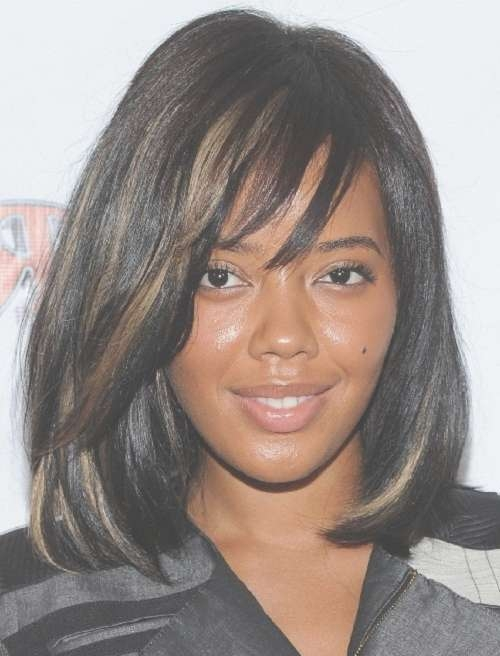 Glamorous Black Women Hairstyles For Medium Length Hair – New For Recent Medium Hairstyles With Color For Black Women (View 10 of 15)