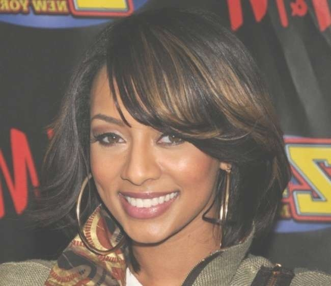Goddess Cute Hairstyles For Black Girls With Medium Length Hair 2017 Intended For Current Black Medium Hairstyles With Bangs And Layers (View 15 of 25)