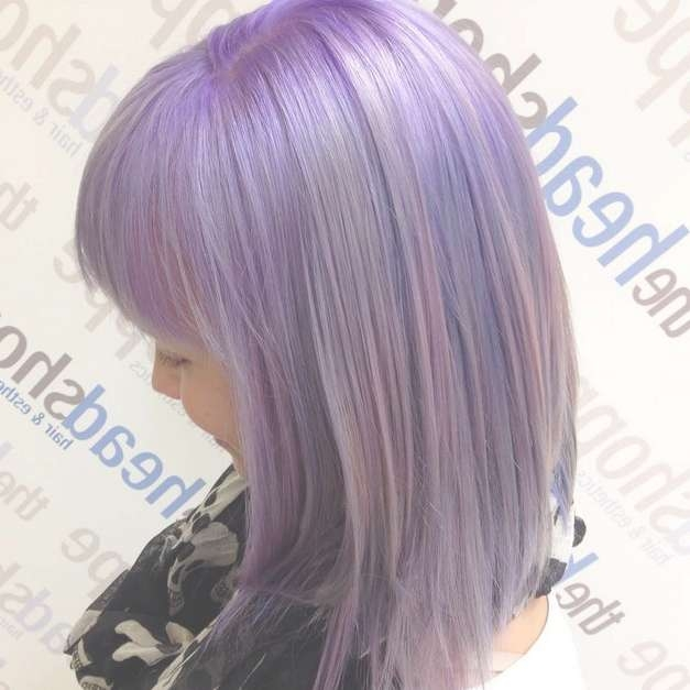 Gorgeous Pastel Purple Hairstyle Ideas: Balayage Hair Styles With Regard To 2018 Purple Medium Hairstyles (View 5 of 25)