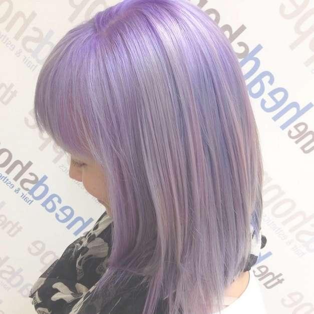 Gorgeous Pastel Purple Hairstyle Ideas: Balayage Hair Styles With Regard To 2018 Purple Medium Hairstyles (View 13 of 25)