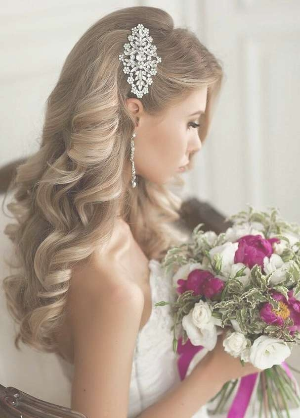 Gorgeous Wedding Hairstyles – Fashion World Magazine Within 2018 Wedding Long Down Hairstyles (Gallery 17 of 25)