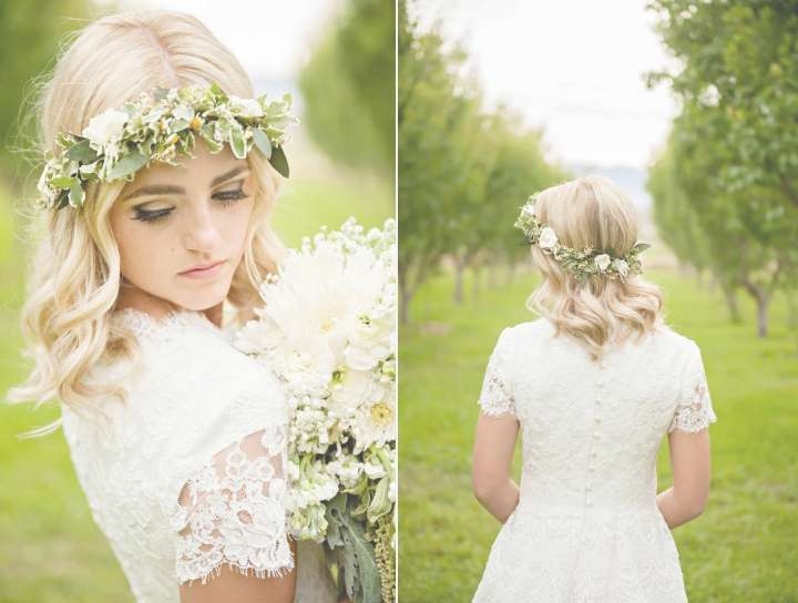Gorgeous Wedding Hairstyles For Medium Length Hair Intended For 2018 Brides Medium Hairstyles (Gallery 14 of 25)