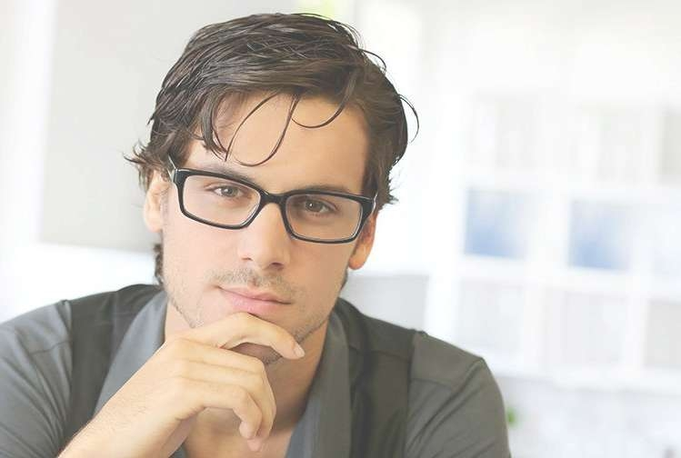Graduation Hairstyles 2016 For Men & College Graduates With Regard To Most Current Medium Haircuts With Glasses (Gallery 25 of 25)