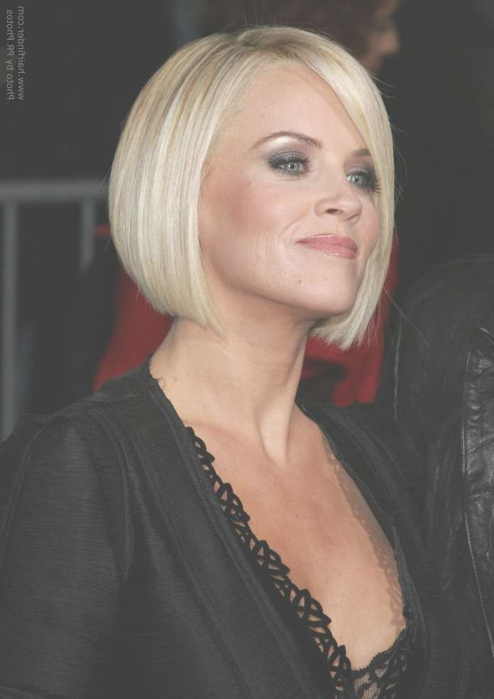 Hair Cut In A Jenny Mccarthy Bob To Soften A Strong Jaw Line Inside Jaw Bob Haircuts (View 22 of 25)