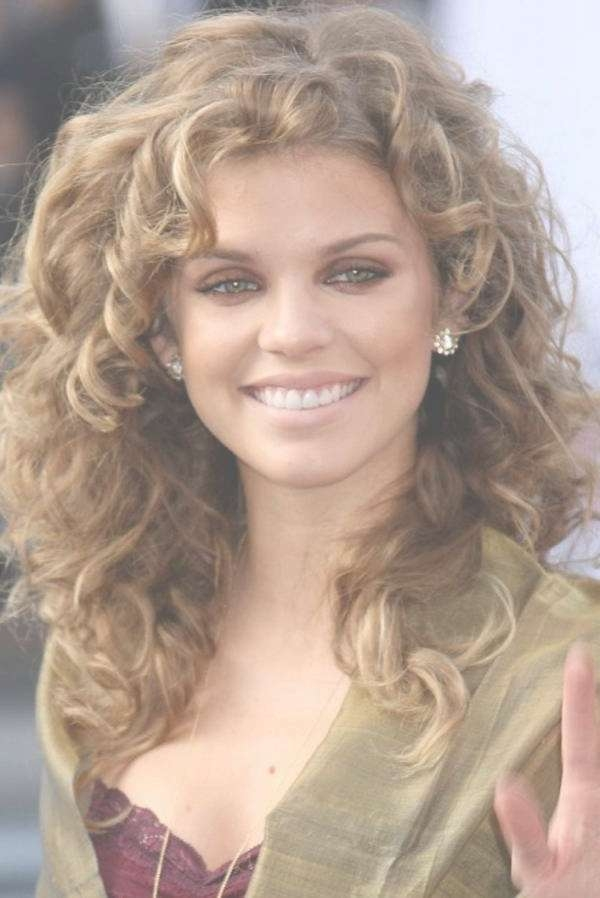 Hair Ideas Medium Length Hairstyles Ideas : Medium Length Curly Pertaining To Most Current Curly Medium Hairstyles With Bangs (View 23 of 25)