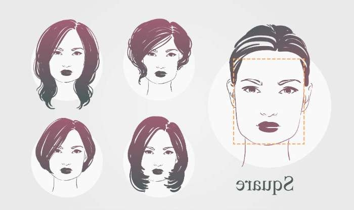 Haircuts According To Face Shape: How To Choose Haircuts For Round For Most Recent Medium Haircuts For A Square Face Shape (View 12 of 25)