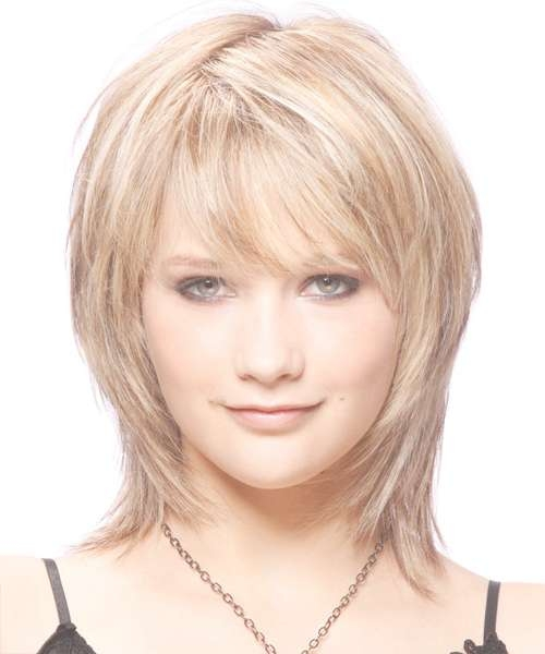 Haircuts For Thin Long Hair And Round Face Medium Lenght Intended For Most Popular Medium Hairstyles For Round Faces And Thin Hair (View 10 of 25)