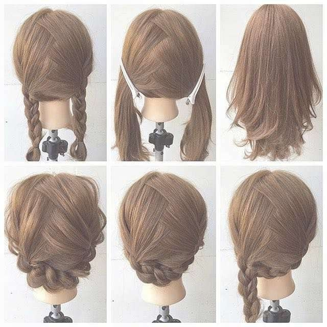 Hairstyle For Short Medium Hair Braids In Most Current Medium Hairstyles For Work (View 6 of 15)