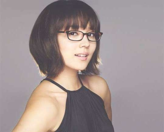 Hairstyles : 2017 Medium Hairstyles For Women With Glasses 2017 With Best And Newest Medium Hairstyles For Girls With Glasses (View 7 of 25)