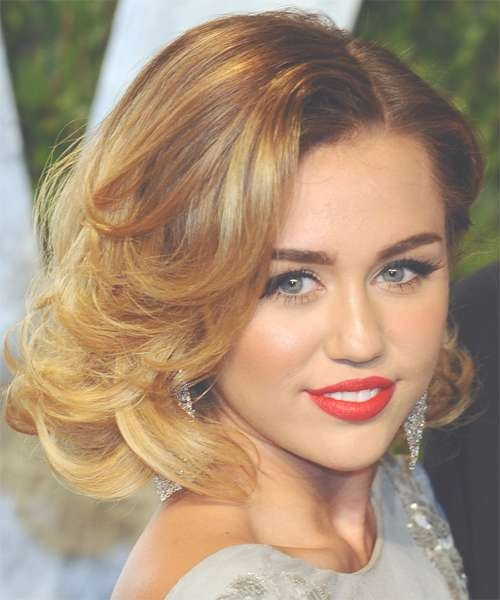Hairstyles And Haircuts In 2018 | Thehairstyler With Most Recently Miley Cyrus Medium Hairstyles (View 19 of 25)
